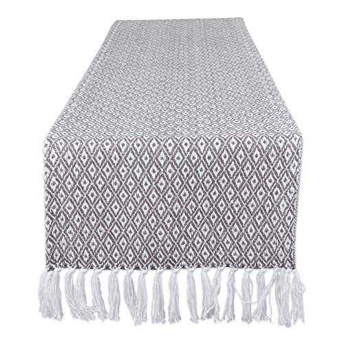 DII CAMZ11271 Mini Diamond Braided Table Runner, 15 x 72 inches, Gray