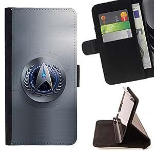 BullDog Case - FOR/Apple Iphone 6 / - / star galaxy space series /- Monedero de cuero de la PU Llevar cubierta de la caja con el ID Credit Card Slots Flip funda de cuer
