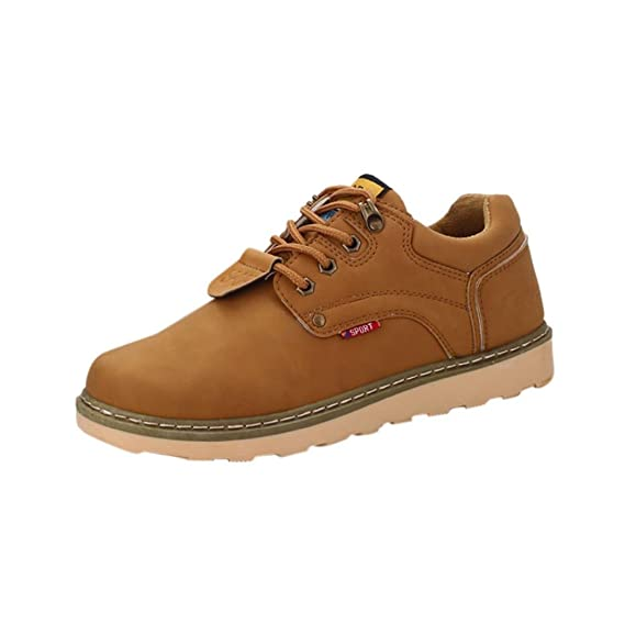 XINANTIME - Botas de hombre Zapatos de hombre Dr.Martens Boots Moda Casual Lace Up Cuero Deporte Bajo Martín Zapatos (39, Caqui): Amazon.es: Hogar