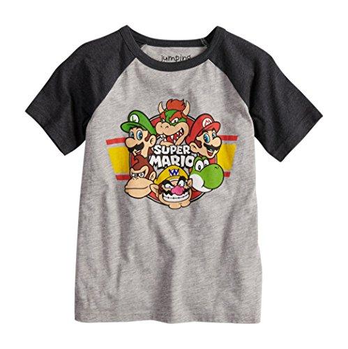 Super Mario Nintendo Characters Boys Girls Shirt (4-7) (4) -