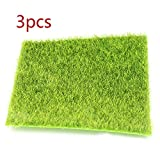 CHEYENNE Artificial Grass Mat,Fake Turf Natural Realistic Fake Grass Rug for Doormat/Outdoor Garden pet Astro Lawn Faux Flower Plant Decor - 3pcs(12'×12')