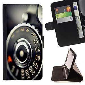 - Vintage Retro Camera Macro - - Prima caja de la PU billetera de cuero con ranuras para tarjetas, efectivo desmontable correa para l Funny HouseFOR HTC DESIRE 816