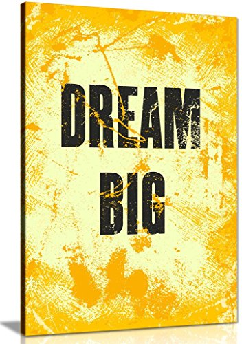 Inspiring Motivation Quote Dream Big Canvas Wall Art