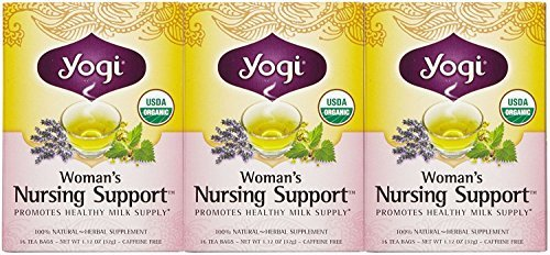Womans Support Nursing (Yogi Tea Woman'S Nursing Support, Herbal Supplement, Tea Bags, 16 ct, 3 pk)