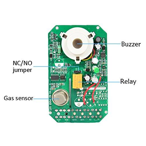 Gas Leak Detector High Sensitivity White 12V Combustible Gas Leak LPG Natural Gas Detector Propane Alarm by Liushuliang (Image #3)