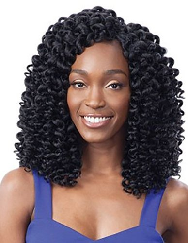 FreeTress Synthetic Hair Crochet Braids 2X Ringlet Wand Curl (1B) - Hair Ringlets
