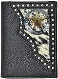 Custom Texas Ranger Lone Star Tri-Fold Wallet Hair on Hide