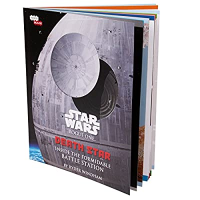 Star Wars: Rogue One Death Star Book and 3D Wood Model Figure Kit - Build, Paint and Collect Your Own Wooden Movie Toy Model - for Kids and Adults, 12+ - 3