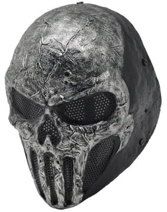 Skull Punisner Mask Full Face Wire Mesh Mask for Airsoft , Bb Gun and Paint (500fps Airsoft Guns)