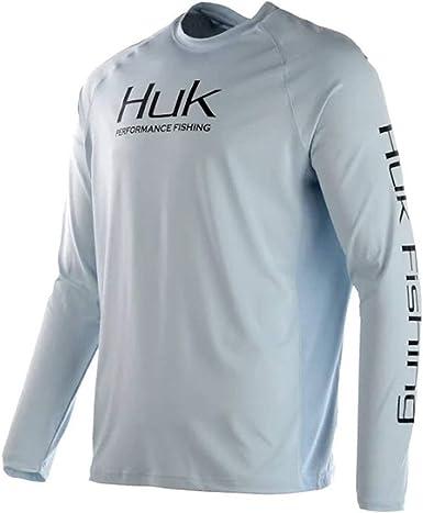 30 UPF Sun Protection Long Sleeve Performance Fishing Shirt with HUK Mens Pursuit Vented Long Sleeve Shirt