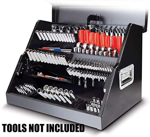 Powerbuilt 26'' Rapid Box Portable Slant Front Tool Box w/Tool Magnets - 240102 by Powerbuillt (Image #1)