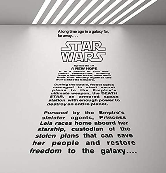 Amazon Com A Long Time Ago In A Galaxy Far Far Away Wall Decal Star Wars Wall Decal Movie Quote Home Theater Decor Gift Vinyl Sticker Print Wall Art Kids Playroom Decor Children