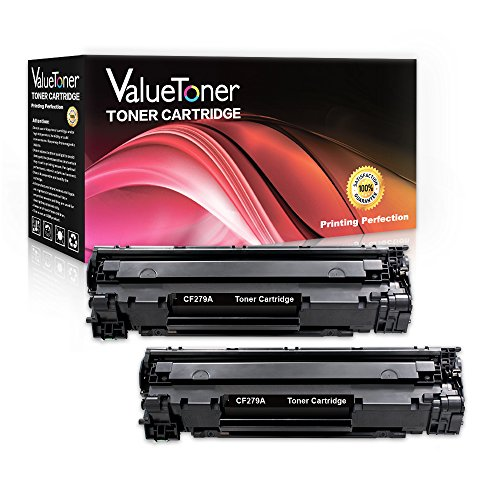 ValueToner For 79A CF279A (2 Black), Compatible Toner Cartridge Replacements For use with LaserJet Pro M12w, LaserJet Pro M26nw, LaserJet Pro M12a, LaserJet Pro MFP M26a Printer