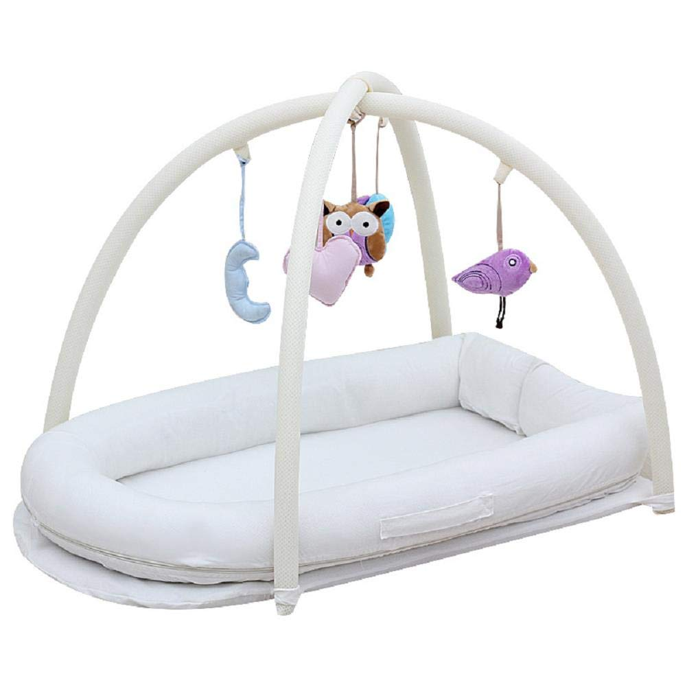 LVMAO Travel Bassinet with Bag,Cotton Gauze Bed in The Bed Portable Baby Play Bed bb Sleepy Bed Cartoon Cradle Bed by LVMAO