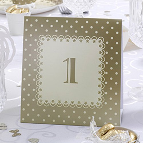 My Wedding Shop Numbers To Stand In Cream Gold &Amp; From The Love Collection - 1-12 Numbers