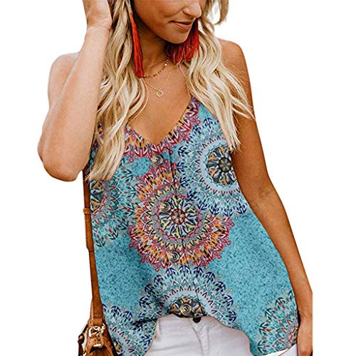GHrcvdhw Women's Casual V Neck Button Down Strappy Cami Tank Tops Summer Sleeveless Shirts Blouses Camisole