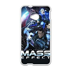 Mass Effect HTC One M7 Cell Phone Case White GYK0882C