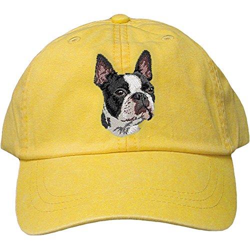 Cherrybrook Dog Breed Embroidered Adams Cotton Twill Caps - Lemon - Boston ()