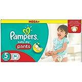 Pampers Baby-Dry Pants Pañales para Bebés, Talla 5 (12-18 kg) - 84 pañales