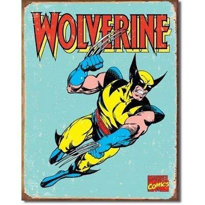 (MMNGT Wolverine X-Men Distressed Retro Vintage Tin Sign TIN Sign 7.8X11.8 INCH)