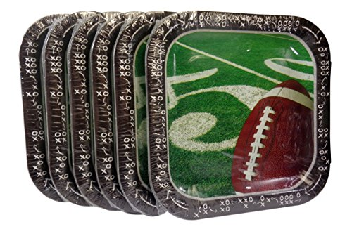 (Bulk Buy: Football Super Bowl Party Square Paper Plates, (14) Plates/Pkg., Pack of (6) - Total (84))