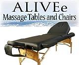 Salon II Black Portable Massage Table W/Adjustable Headrest...