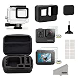 #4: Kupton Accessories Kit for GoPro Hero 5 Black Travel Case Small + Housing Case + Screen Protector + Lens Cover + Silicone Protective Case for Go Pro Hero5 Outdoor Sport Kit