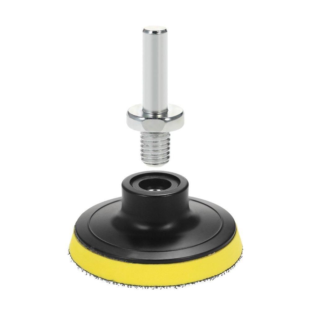 KKmoon 19PCS 3pouce 80mm /Éponge de Polissage 17pcs Polisher Sponge Pad 1 Tampon de Laine 1 Disque Adh/ésif avec Tige
