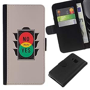 All Phone Most Case / Oferta Especial Cáscara Funda de cuero Monedero Cubierta de proteccion Caso / Wallet Case for HTC One M9 // Traffic Light