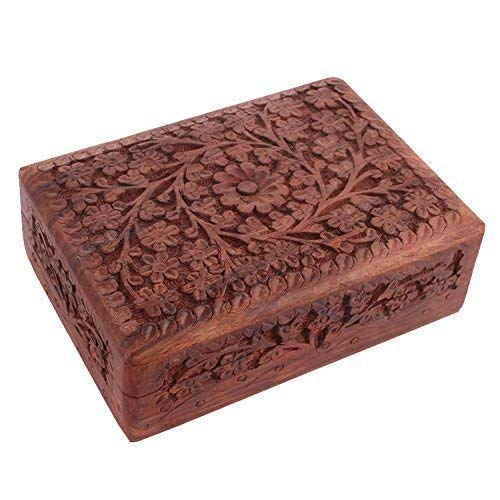 Indian Glance Wooden Jewelry Box for Women - Organizer Display Storage Case - Christmas Gifts for Her