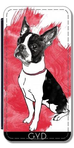 Funda Carcasa Cubierta de PU Cuero para Samsung Galaxy A5 2016 (SM-A510) - Boston Terrier by zuluspice Polipiel