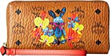 MCM Women's Rabbit Zip Around Large Wallet Cognac One Size