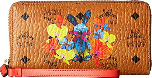MCM Women's Rabbit Zip Around Large Wallet Cognac One Size by MCM