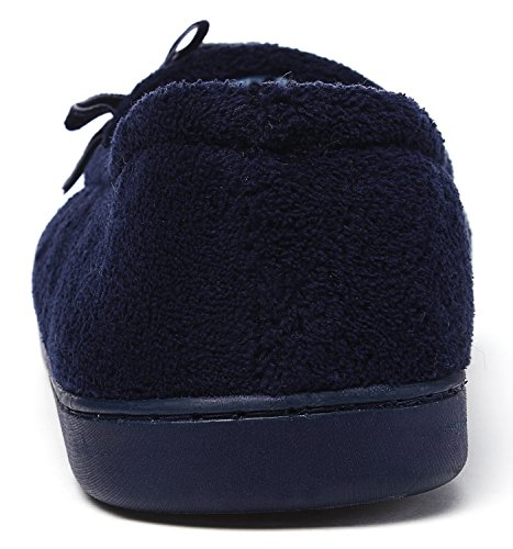 Pantofole Antiscivolo Blu Kushyshoo Da Donna Bowknot In Peluche