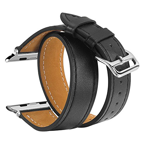 V Moro Double Leather iWatch Bracelet