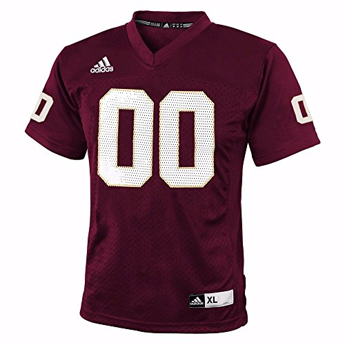 (adidas Texas State Bobcats NCAA Maroon Official Home #00 Replica Football Jersey for Youth (XL))