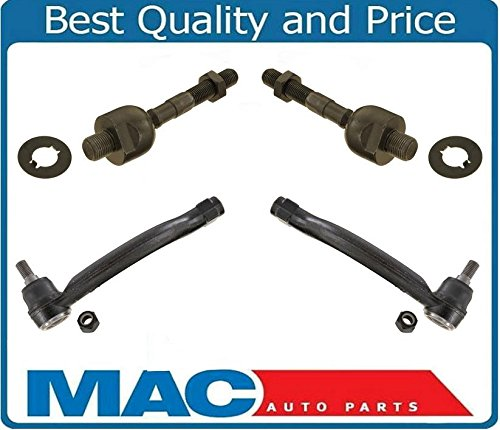 4 Pcs 100% New Front Inner & Outer Tie Rods Set Fits For Acura TL 3.2L 2004-2008 (New Acura Tie Rod Rods)
