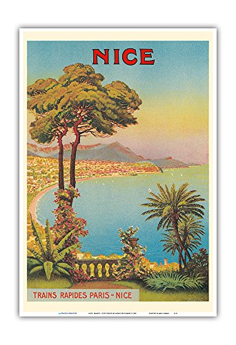 Pacifica Island Art Nice, France - Cote d'Azur - French Riveria - Vintage World Travel Poster by Morel De Tangry c.1900 - Master Art Print - 13in x 19in - Nice Vintage Art