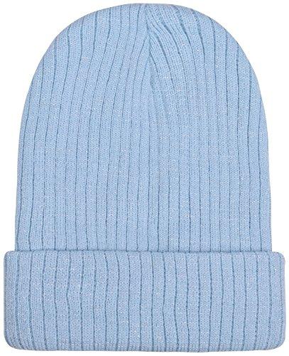 light blue knit beanie - 5