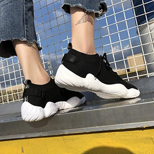 compensées femmes Vintage Bottes pour Soccer Zarupeng en Chaussures fitness souple Casual Chaussures élégantes sport Baskets Chaussures noires de Running femmes cuir Running pour Avec Filles Bottes de gOXXt