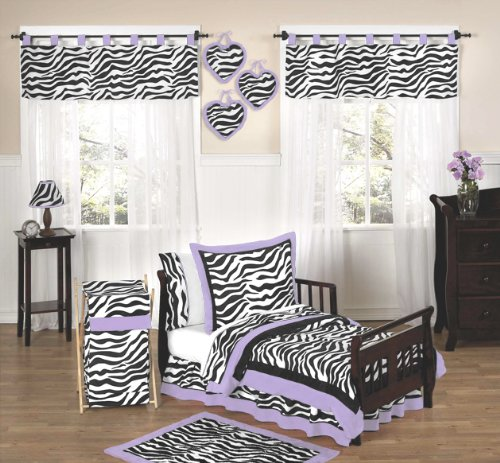 Sweet Jojo Designs 5-Piece Purple Funky Zebra Toddler Bedding Girls Set by Sweet Jojo Designs