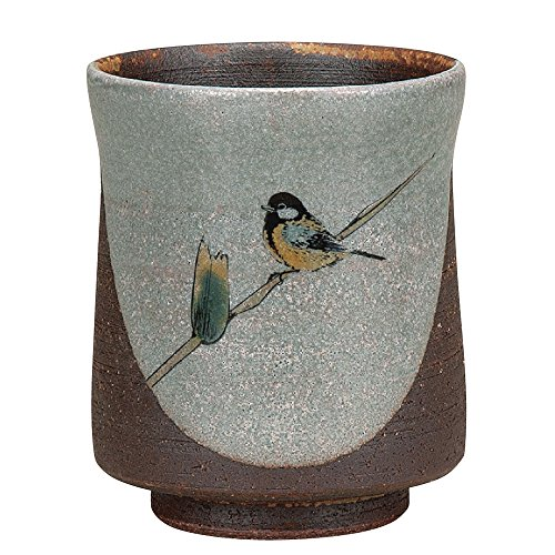 Japanese Yunomi Tea Cup Tit KUTANI YAKI(ware) by Kutaniyaki
