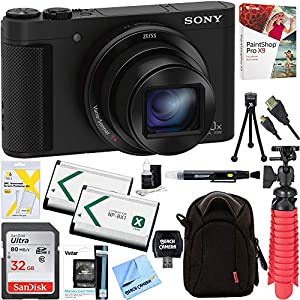 51t%2BRVgxGvL. SS300  - Sony Cyber-Shot HX80 Compact Digital Camera with 30x Optical Zoom (Black) + a SDHC 32GB UHS Class 10 Memory Card…