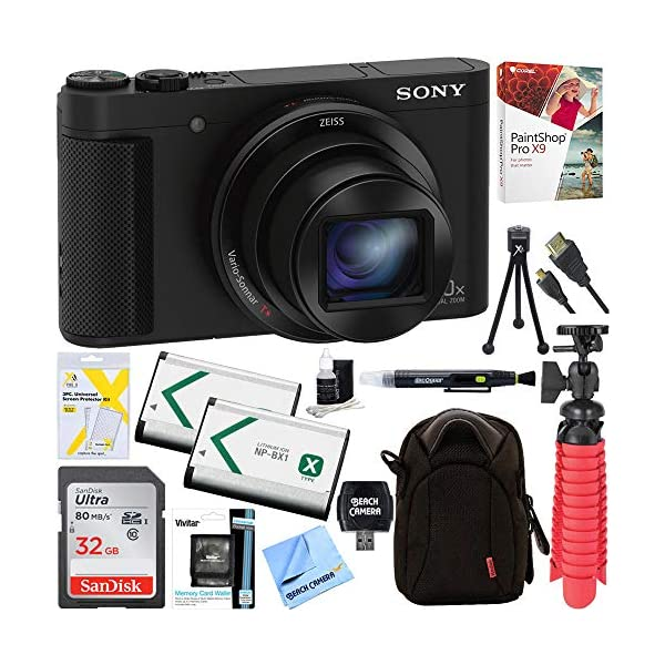 51t%2BRVgxGvL. SS600  - Sony Cyber-Shot HX80 Compact Digital Camera with 30x Optical Zoom (Black) + a SDHC 32GB UHS Class 10 Memory Card…