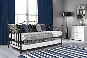 DHP Tokyo Twin Size Daybed and Trundle with Metal Frame (Brushed Bronze)