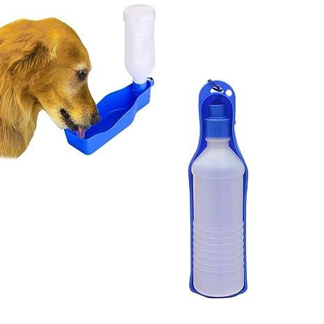AOLVO - Botella de Agua portátil para Perro, 500 ML, dispensador de Agua de