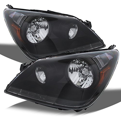 For Honda Odyssey JDM Black OE Replacement Headlights Driver/Passenger Head Lamps Pair (Headlamp Honda Odyssey)
