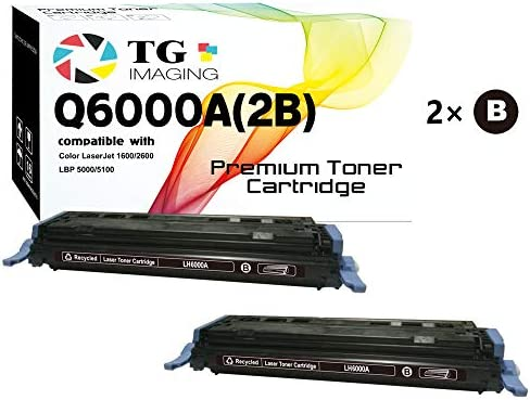 (2-Pack) TG Imaging Compatible Q6000A Black Toner Cartridge