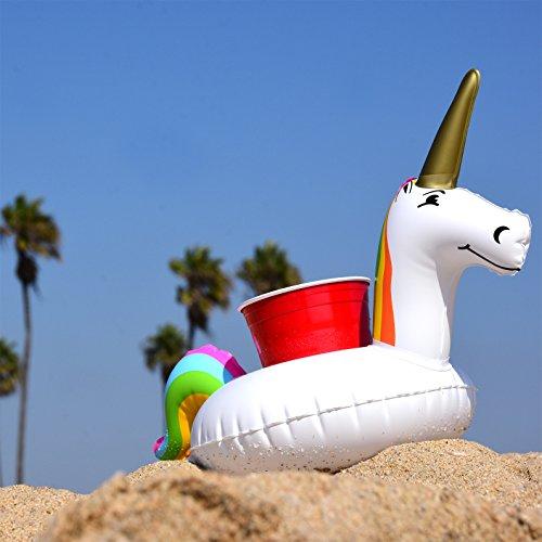 Gofloats Inflatable Unicorn Drink Holder 3 Pack Float