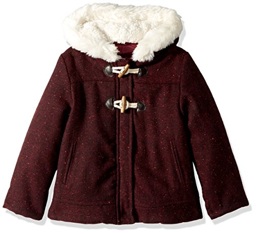 Wool Toggle Coat (Wippette Toddler Girls' Wool Toggle, Burgundy, 4T)